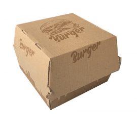 Hamburger box barna lebomló (50db)