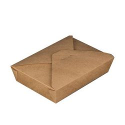 1200 ml papír tésztás doboz barna (50db)